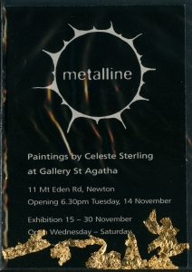 Metalline Invite with leaf
