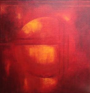Antrhosphere, acrylic on jute, 2009