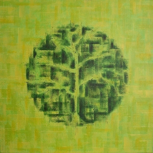 Biosphere, acrylic on linen, 2009