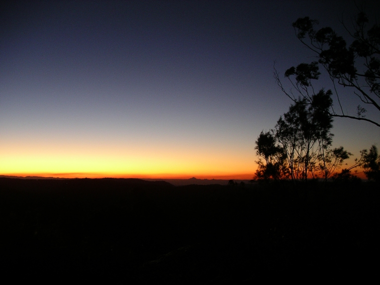 Binna Burra sunset