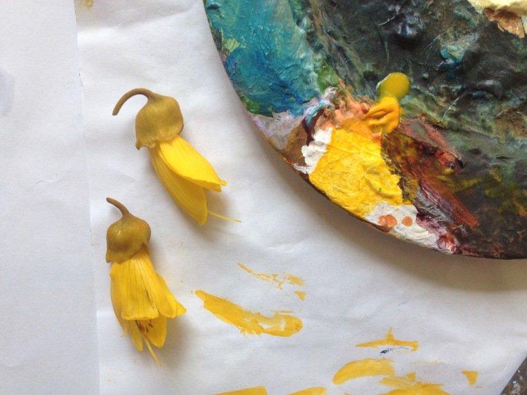 Kowhai and palette