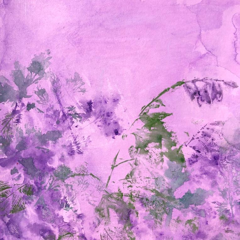 Sensory Garden in Lilac detail