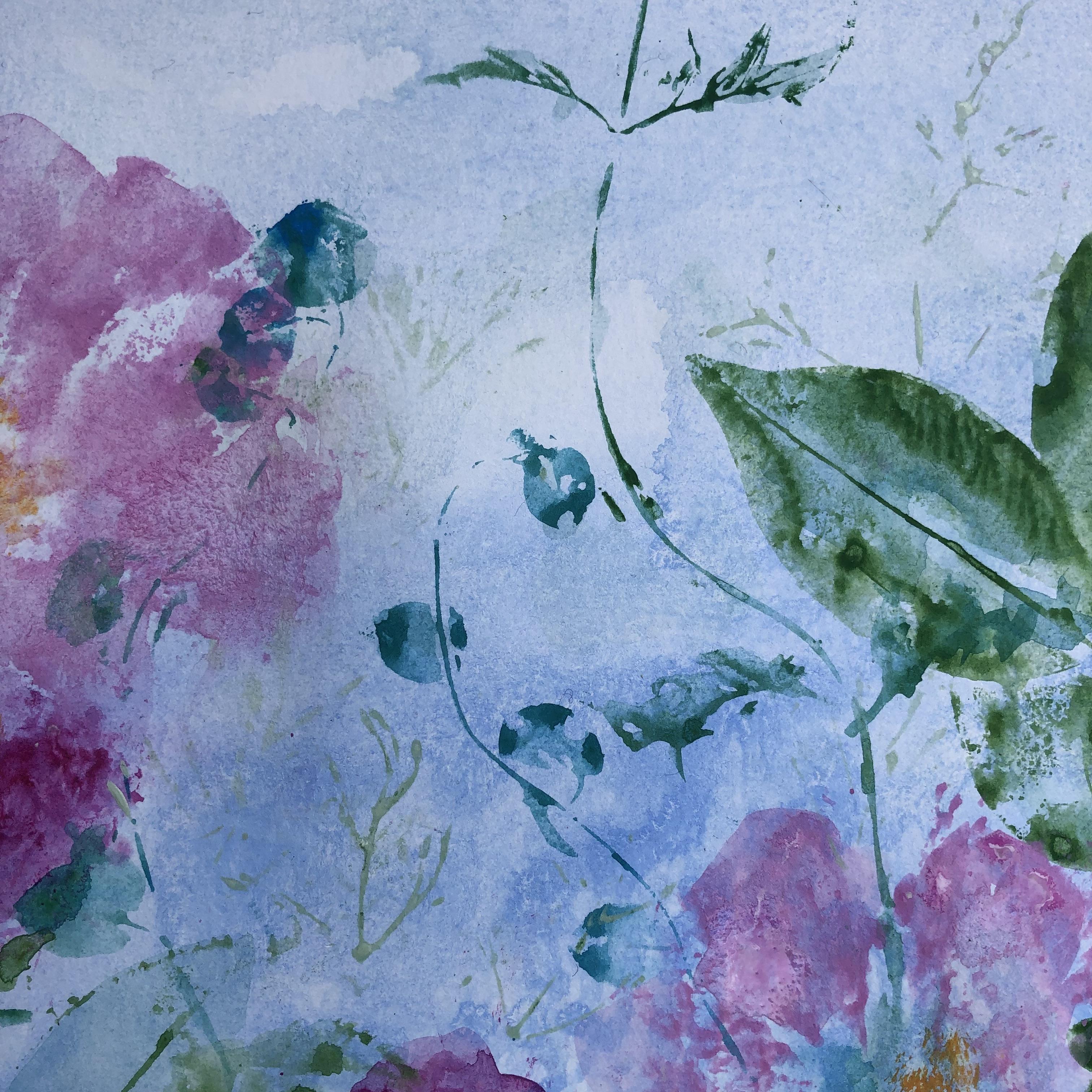 Pink camellias detail