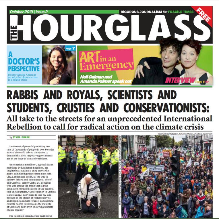 The Hourglass front page